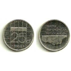 (204) Paises Bajos. 1988. 25 Cents (MBC)