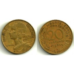 (930) Francia. 1964. 20 Centimes (BC)