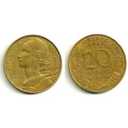 (930) Francia. 1985. 20 Centimes (MBC)