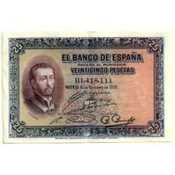 [1926] Billete de 25 Pesetas (EBC-). Serie B.