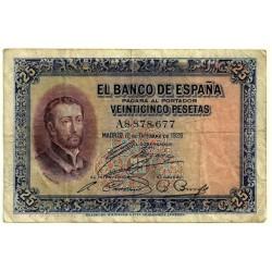 [1926] Billete de 25 Pesetas (BC). Serie A.