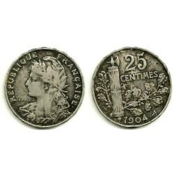 (856) Francia. 1904. 25 Centimes (BC-)