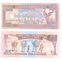 (16) Somalilandia. 1996. 20 Shillings (SC)