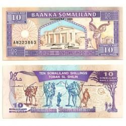 (2b) Somalilandia. 1996. 10 Shillings (SC)