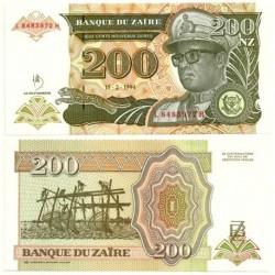 (62) Zaire. 1994. 200 Nouveaux Zaires (SC)