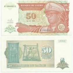 (51) Zaire. 1993. 50 Noveaux Makuta (EBC)