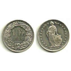 (24a.1) Suiza. 1980. 1 Franc (EBC+)