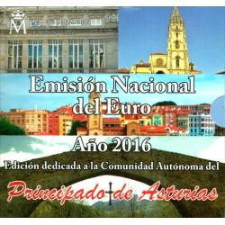 España 2016 Cartera Oficial (Principado Asturias)