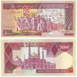 (139) Irán. 1983-93. 5000 Rials (SC)