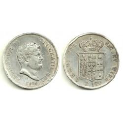 (C153c) Estados Italianos. Nápoles y Sicilia. 1854. 120 Grana (MBC) (Plata)
