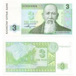 (8) Kazajstan. 1993. 3 Tenge (SC)