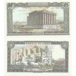 (65) Líbano. 1964-88. 50 Livres (SC)