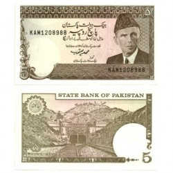 (38) Pakistán. 1983-84. 5 Rupees (SC)