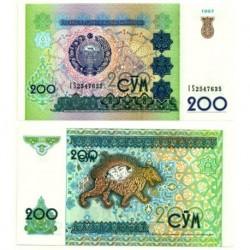 (80) Uzbekistán. 1997. 200 Sum (SC)