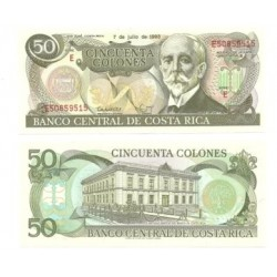 (257.a) Costa Rica. 1993. 50 Colones (SC)