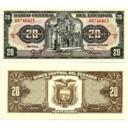 (121Aa) Ecuador. 1988. 20 Sucres (SC)