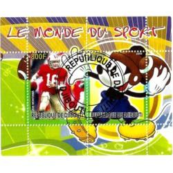 Djibouti. 2008. Hoja Conmemorativa. Deportes