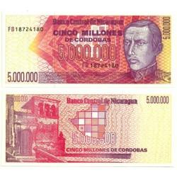(165) Nicaragua. 1990. 5 Millones de Cordobas (SC)