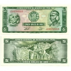(99.c) Perú. 1973. 5 Soles de Oro (SC)