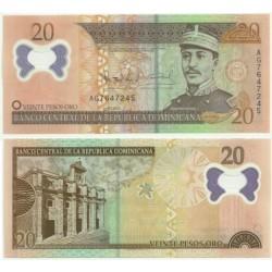 República Dominicana. 2009. 20 Pesos Oro (SC)
