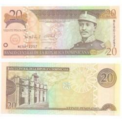 República Dominicana. 2004. 20 Pesos de Oro (SC)