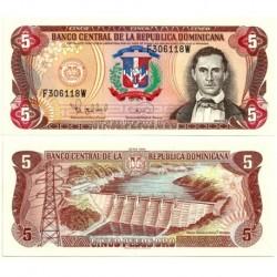 (147) República Dominicana. 1995. 5 Pesos (SC)