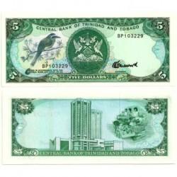 (37c) Trinidad y Tobago. 1985. 5 Dollars (SC)