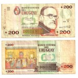(77) Uruguay. 2000. 200 Pesos (BC)