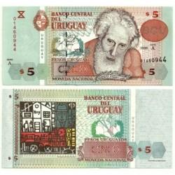 (80) Uruguay. 1998. 5 Pesos (SC)