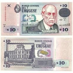 (81) Uruguay. 1998. 10 Pesos (SC)