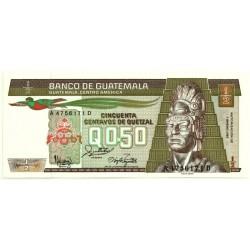 (65) Guatemala. 1987. 50 Centavos (SC)