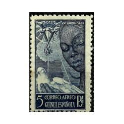 Guinea Española. 5 Pesetas. Correo Aéreo