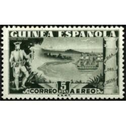 Guinea Española. 1949. 5 Pesetas. Dia del Sello