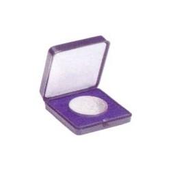 Estuche de plástico (azul) para monedas de hasta 30mm