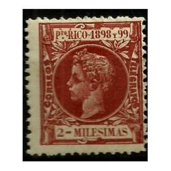 Puerto Rico. 1898/99. 2 Milesimas