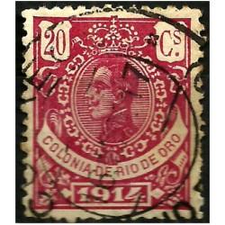 Sahara Español (Colonia de Rio de Oro). 1914. 20 Céntimos