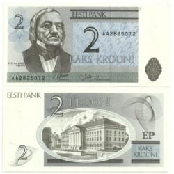 (70a) Estonia. 1992. 2 Krooni (SC)