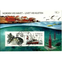 Suecia. 2010. Hoja Conmemorativa. Norden Vid Havet - Livet Vid Kusten