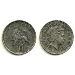 (989) Gran Bretaña. 2000. 10 Pence (MBC+)