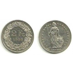 (21a.3) Suiza. 1995. 2 Francs (BC)