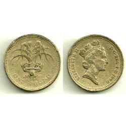 (941) Gran Bretaña. 1990. 1 Pound (RC)