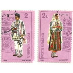 Rumania. 1985. Lote Trajes típicos
