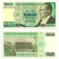 (204) Turquía. 1995. 50000 Lira (SC)