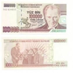 (205) Turquía. 1970. 100000 Lira (SC)
