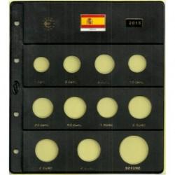 Hoja para Euros 11 Alojamientos (España-2015)