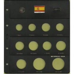 Hoja para Euros 11 Alojamientos (España-2011)