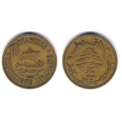 (23) Líbano. 1955. 10 Piastres (EBC)