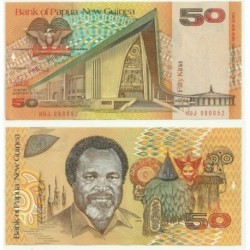 (11) Papúa Nueva Guinea. 1989. 50 Kina (SC)