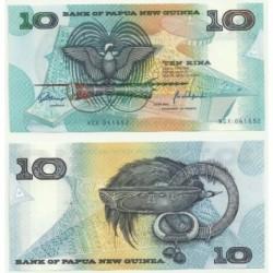(9.e) Papúa Nueva Guinea. 1988. 10 Kina (SC)
