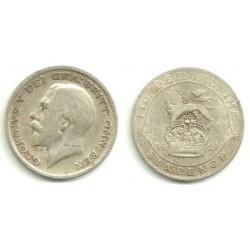 (815a.1) Gran Bretaña. 1921. 6 Pence (RC) (Plata)
